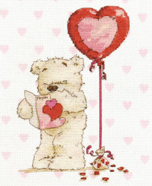 Lickle Ted With Lickle Love Cross Stitch Kit